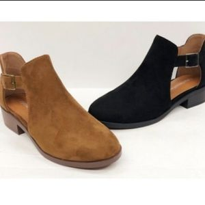 Chestnut Cut Out Buckle Bootie